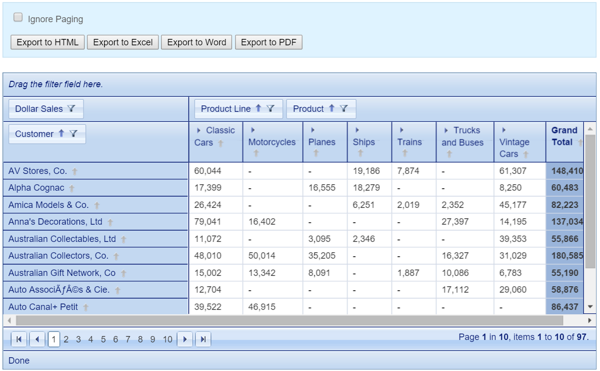 Powerful Pivot Table for PHP | KoolPHP